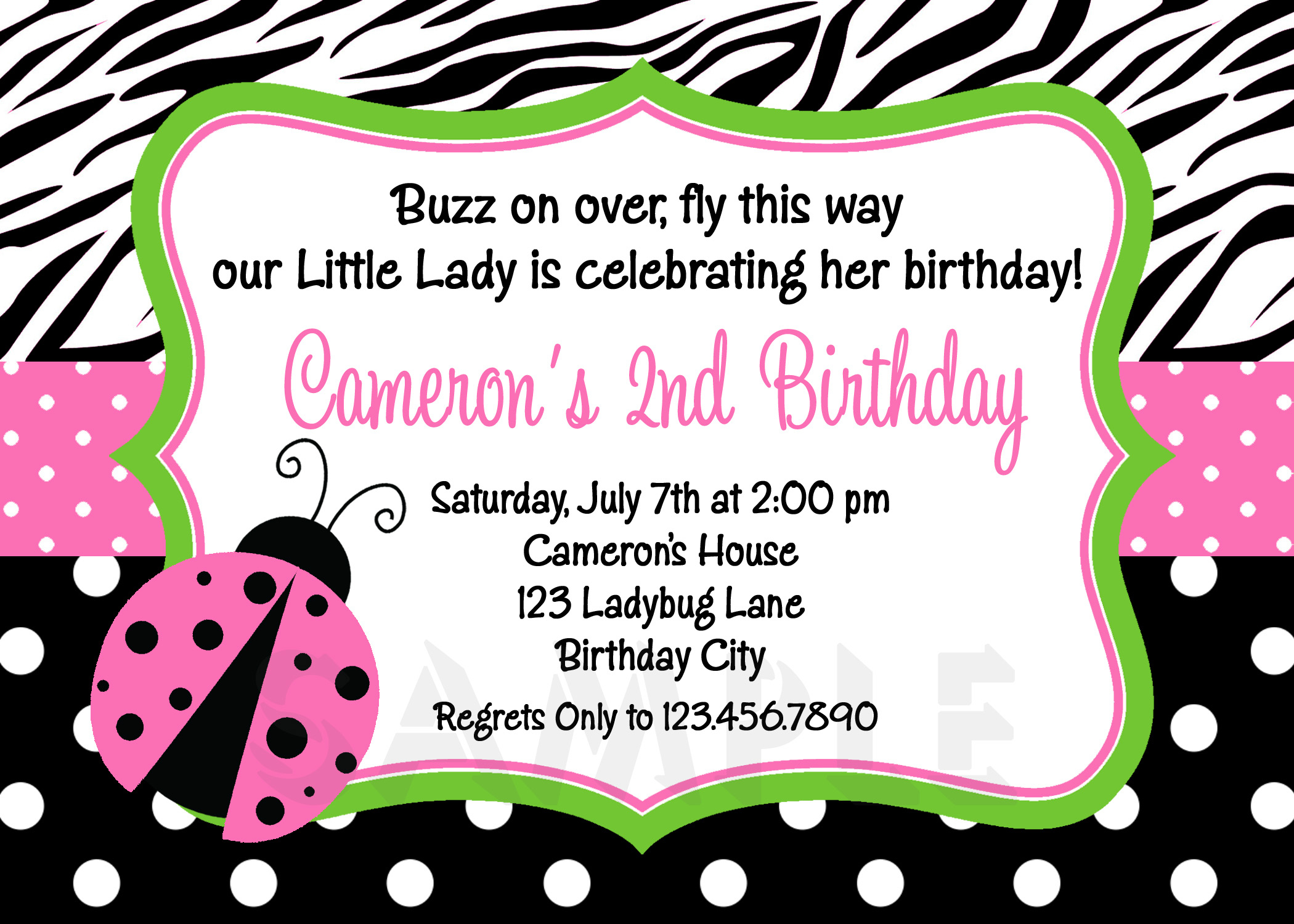 Photo : Free Ladybug Baby Shower Image - Free Printable Ladybug Baby Shower Invitations Templates