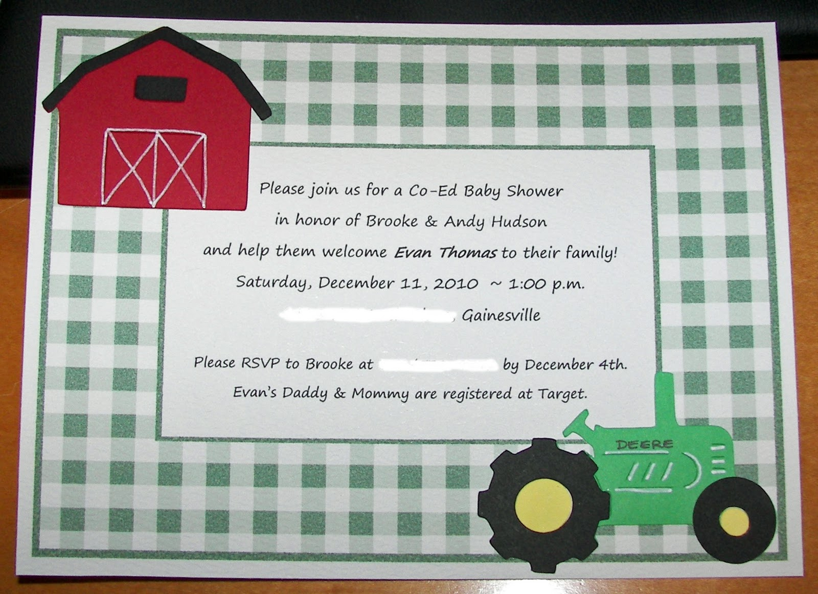 Photo : Free Printable Baby Shower Image - Free Printable John Deere Baby Shower Invitations