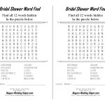 Photo : Free Printable Bridal Shower Image   Free Printable Bridal Shower Games Word Scramble