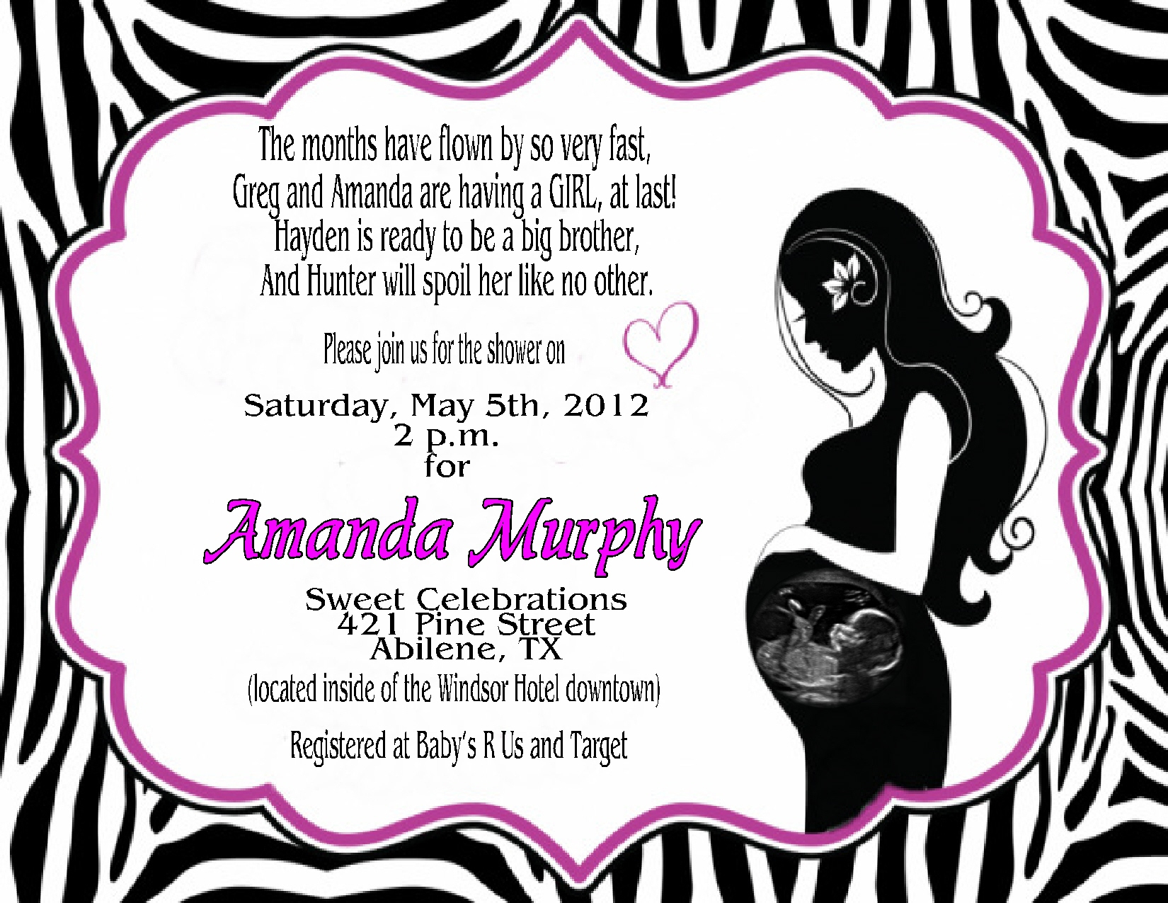 Photo : Mickey Mouse Invitation Diy Image - Free Printable Zebra Baby Shower Invitations