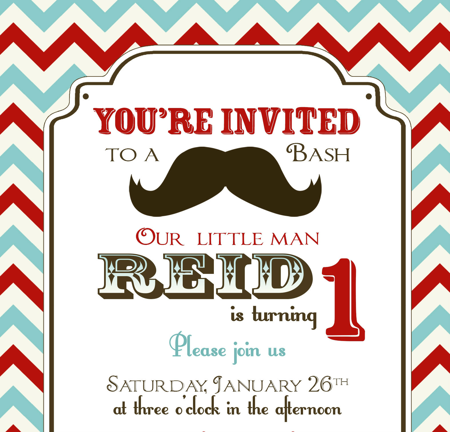 Photo : Mustache Or Bow Baby Image - Free Printable Mustache Invitations