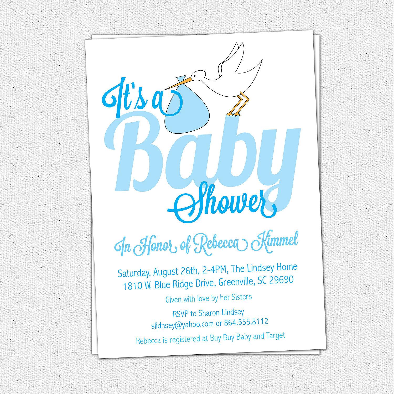 Photo : Printable Baby Shower Invitations Image - Free Baby Boy Shower Invitations Printable