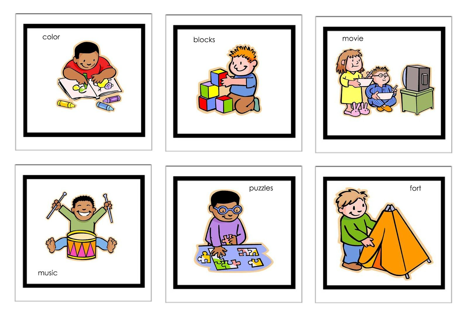 Picture Cards For Nonverbal Children | Free Printable Visual - Free Printable Picture Schedule Cards