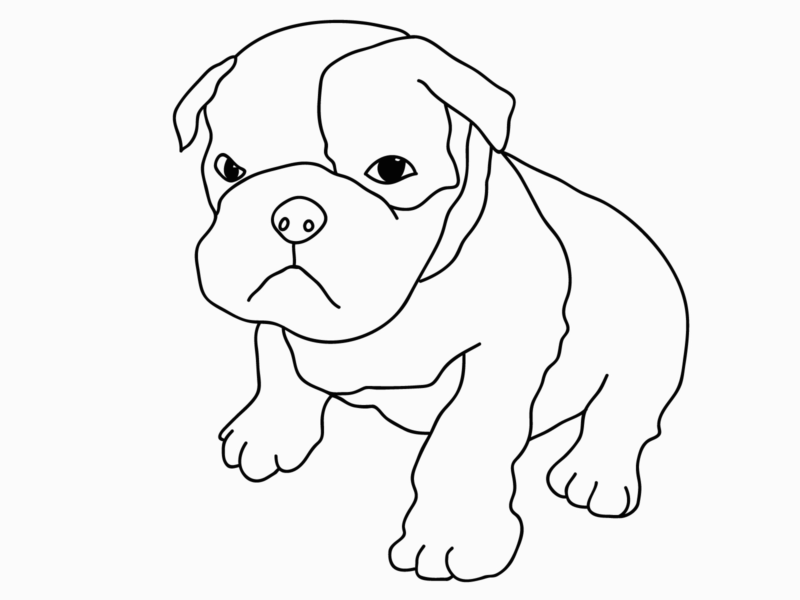 Picture Of A Dog To Color   Printable Coloring Pages - Free Printable Dog Coloring Pages