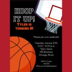 Pin On Cards With Care   Basketball Invites Free Printable