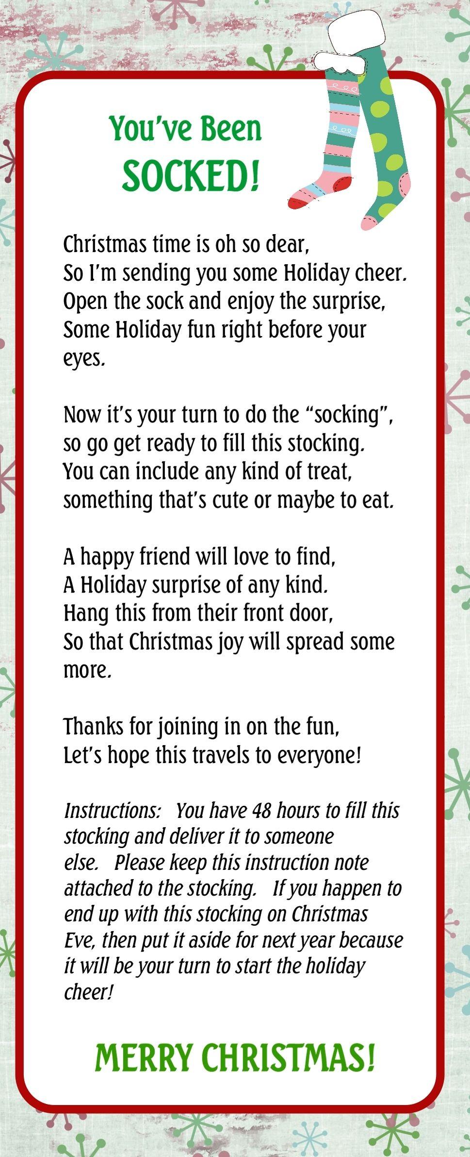 Pin On Christmas - You Ve Been Socked Free Printable
