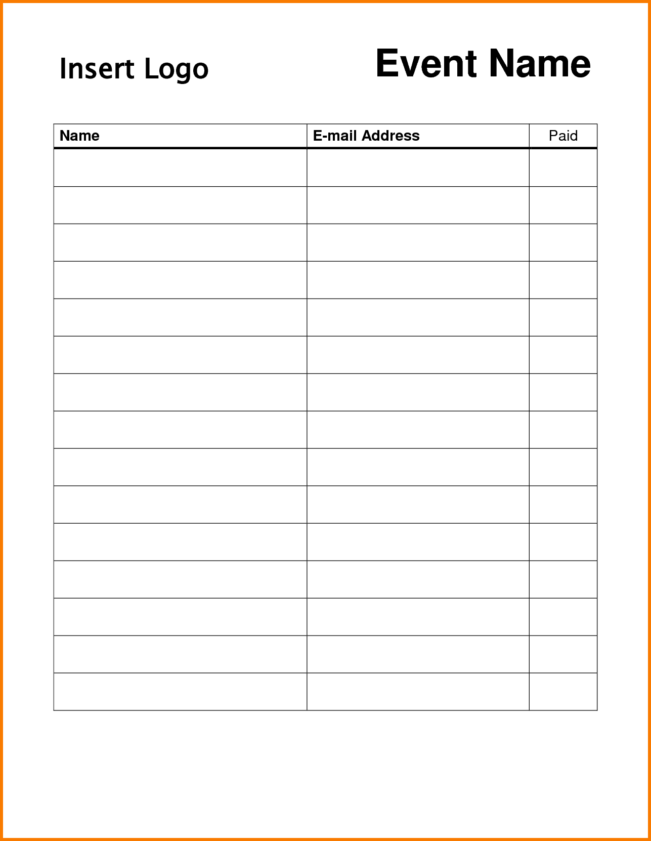 Pin On Dojo Marketing Ideas - Free Printable Sign In Sheet Template