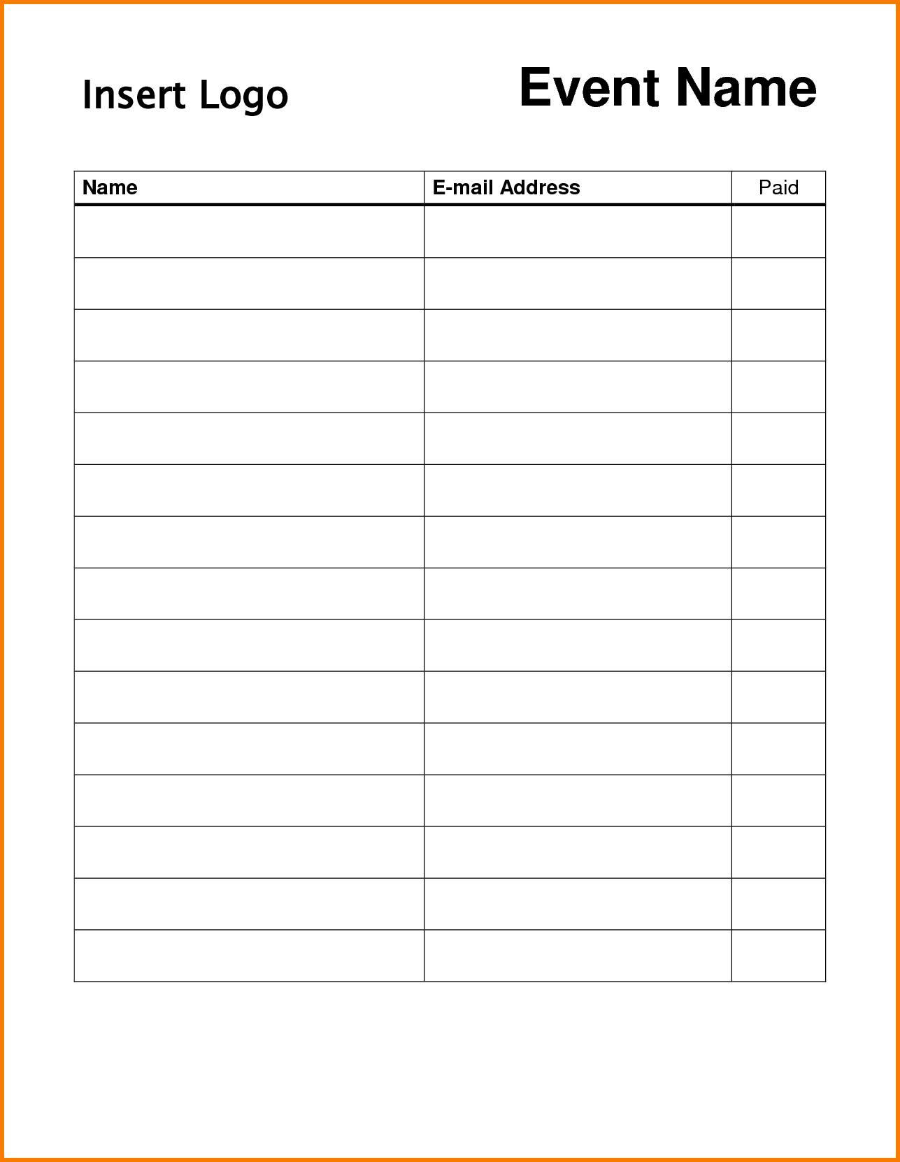 Pin On Dojo Marketing Ideas - Free Printable Sign In Sheet