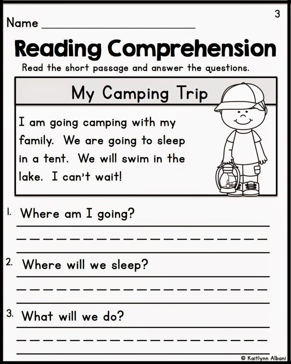 Pin On Ese - Free Printable Reading Comprehension Worksheets For Kindergarten