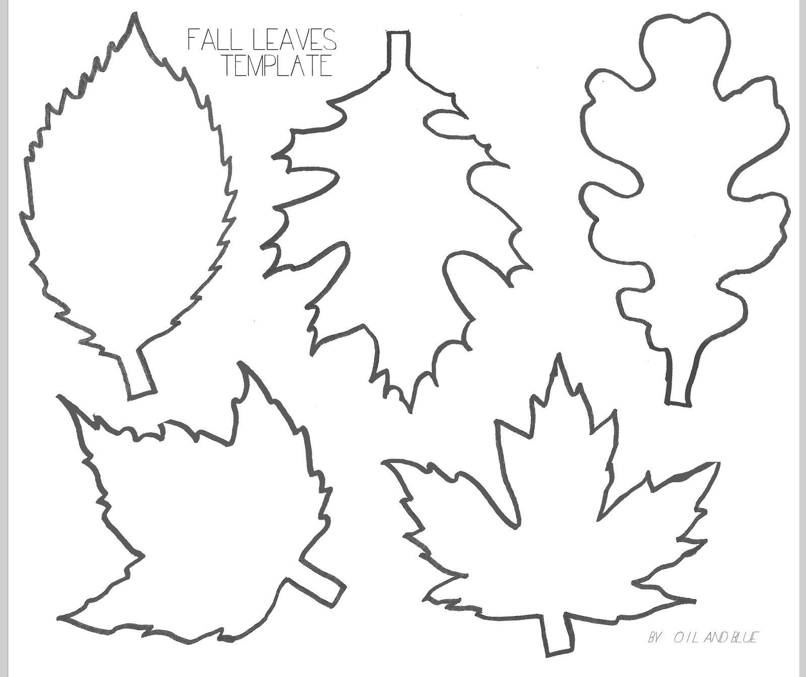 Pin On Thanksgiving/fall - Free Printable Leaves