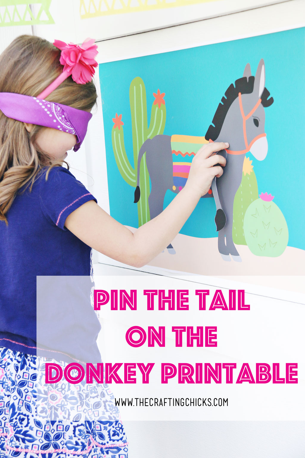 Pin The Tail On The Donkey - The Crafting Chicks - Free Printable Pin The Tail On The Cat