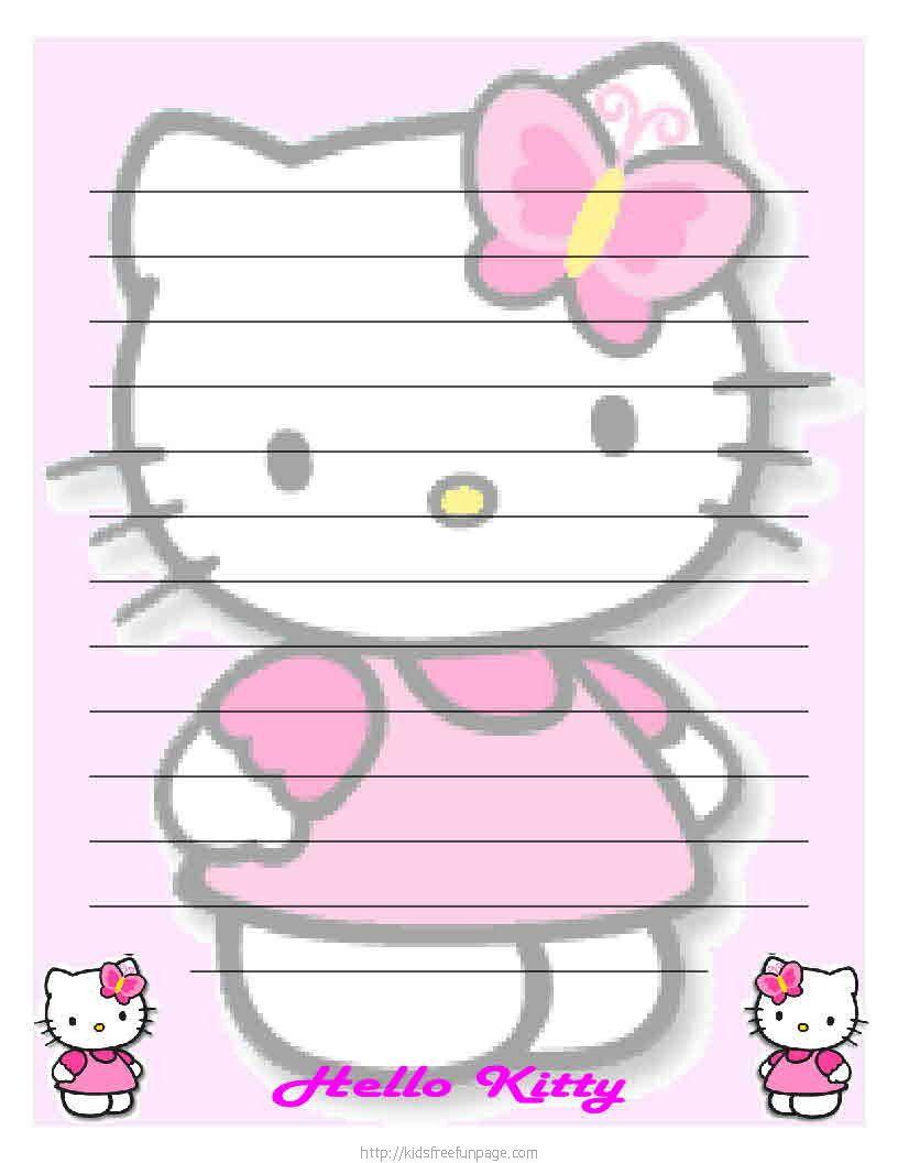 Pinamy ♥ On ꧁cartoon Stationary꧁ | Pinterest | Hello Kitty - Free Printable Hello Kitty Stationery
