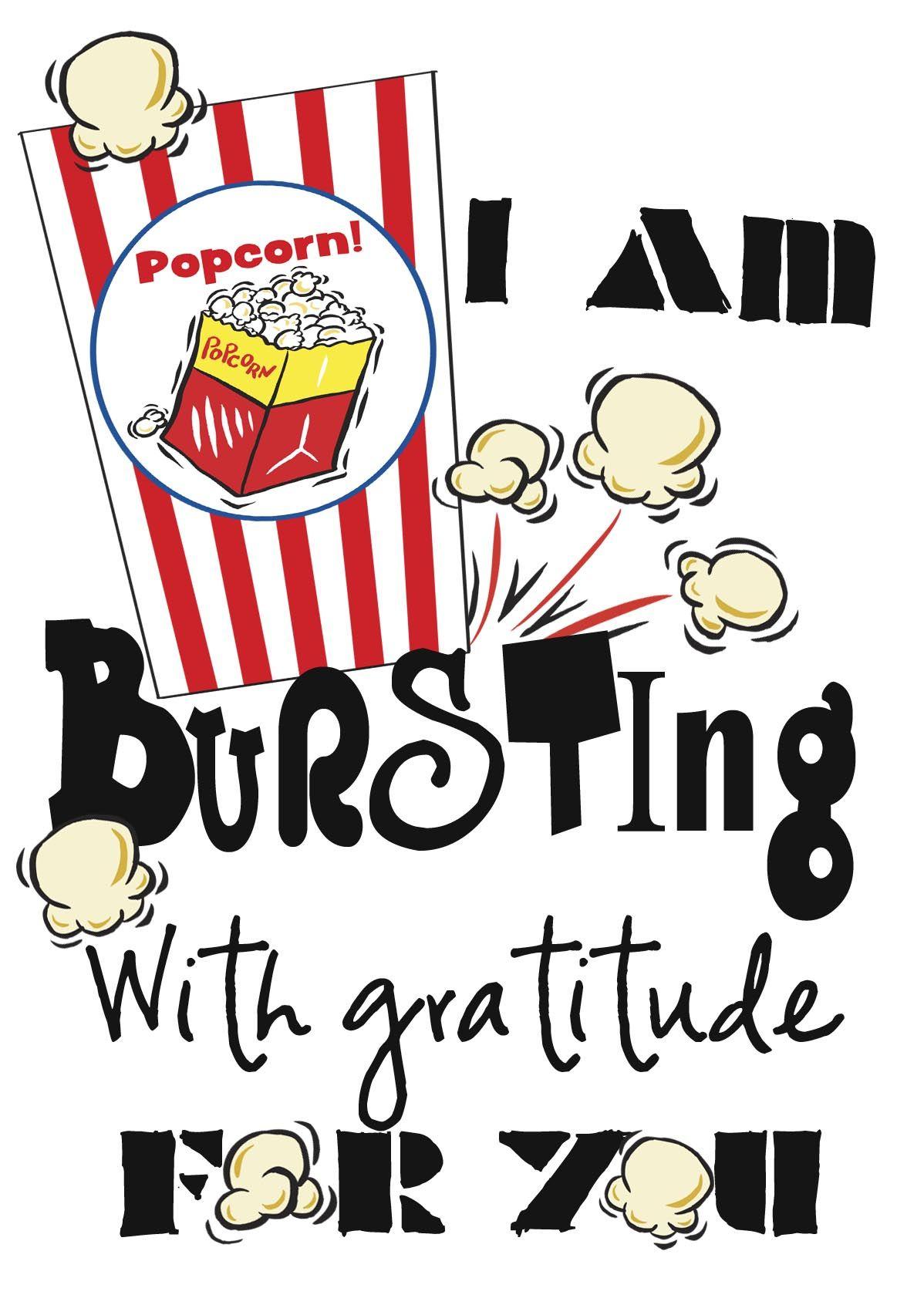 Pinamy Knight On Craft Ideas | Teacher Appreciation Gifts - Free Popcorn Teacher Appreciation Printable