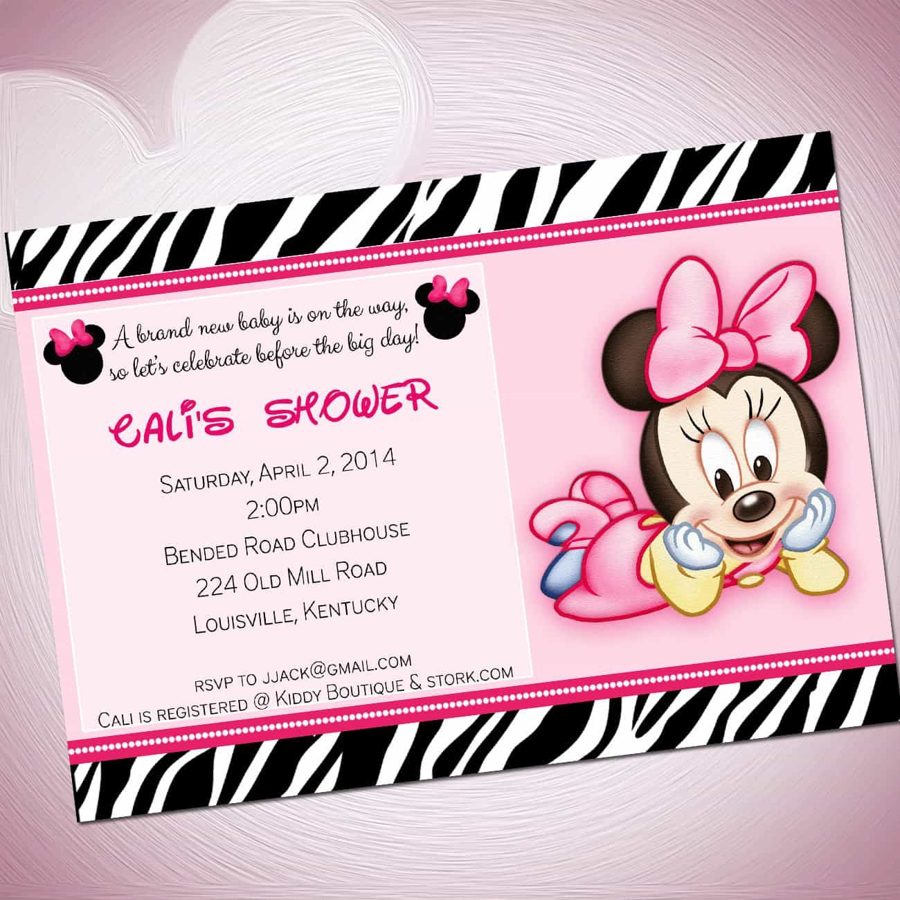 Pinanggunstore On Invitationswww.egreeting-Ecards | Baby - Free Printable Zebra Baby Shower Invitations