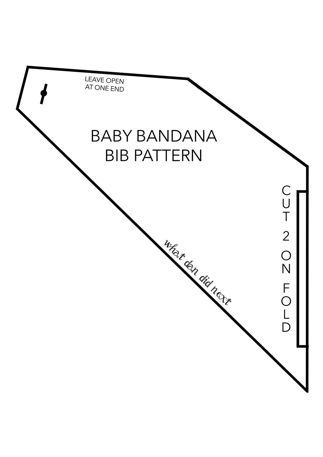 Pinannie Peralta On Baby Boy | Pinterest | Baby Sewing, Baby - Free Printable Baby Bandana Bib Pattern