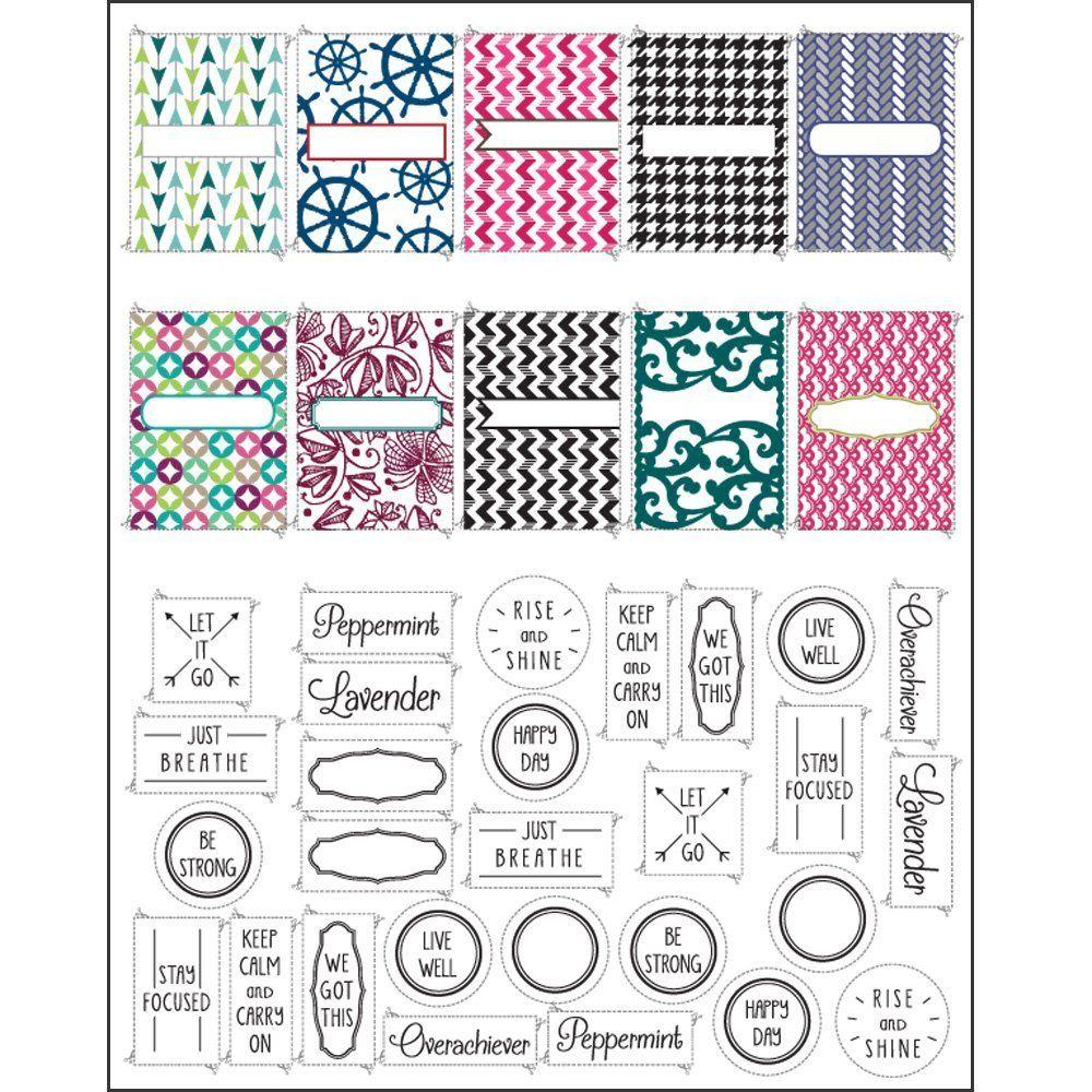 Pinapril Dye On Craft Ideas   Pinterest   Essential Oil Inhaler - Free Printable Roller Bottle Labels