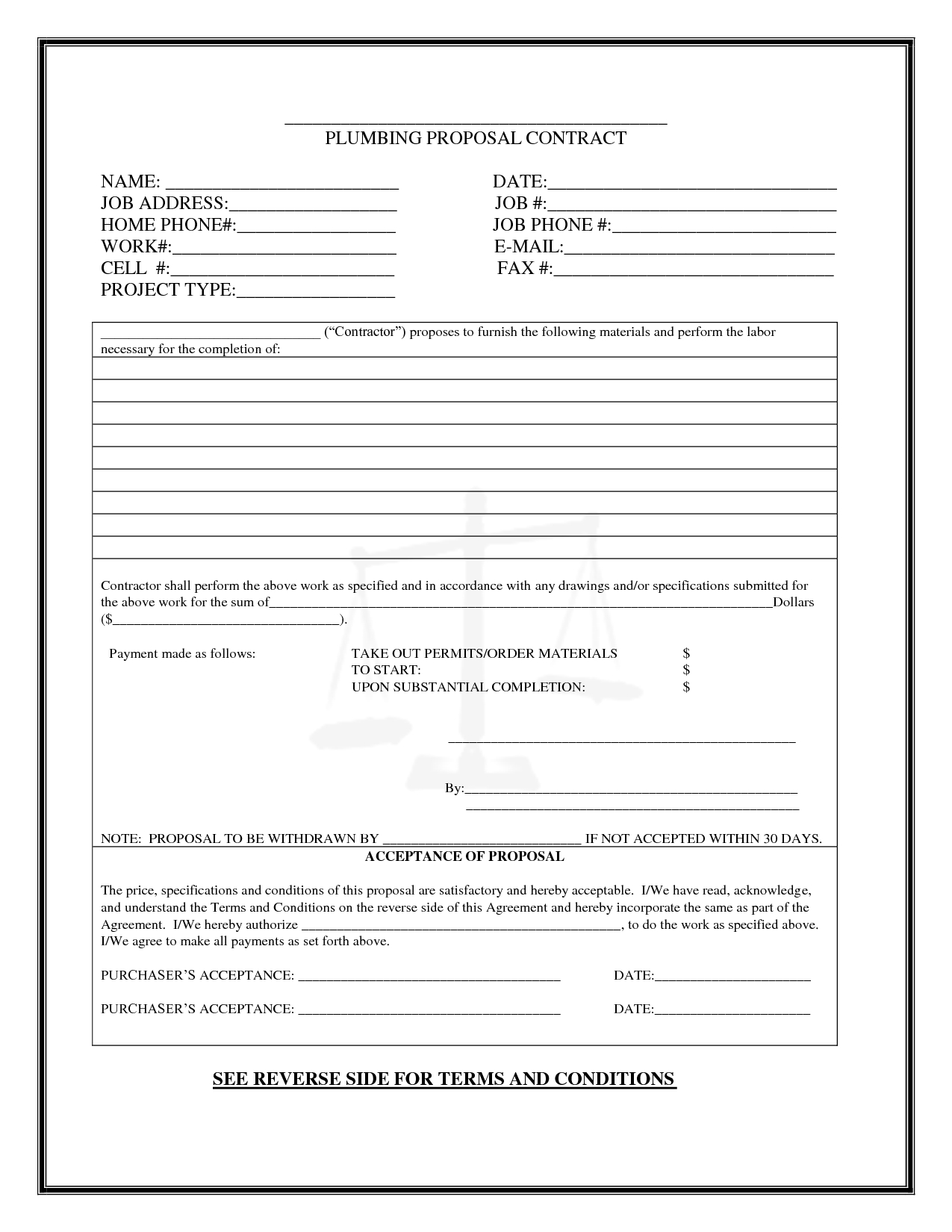 Pinboyvanss On Business | Templates Printable Free, Proposal - Free Printable Proposal Forms