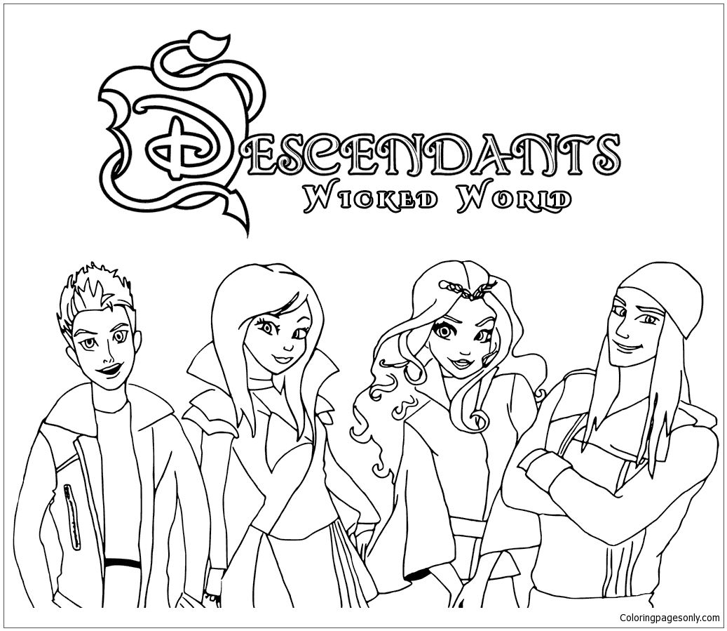 Pincoloring Pages On Descendants Coloring Pages | Pinterest - Free Printable Descendants Coloring Pages