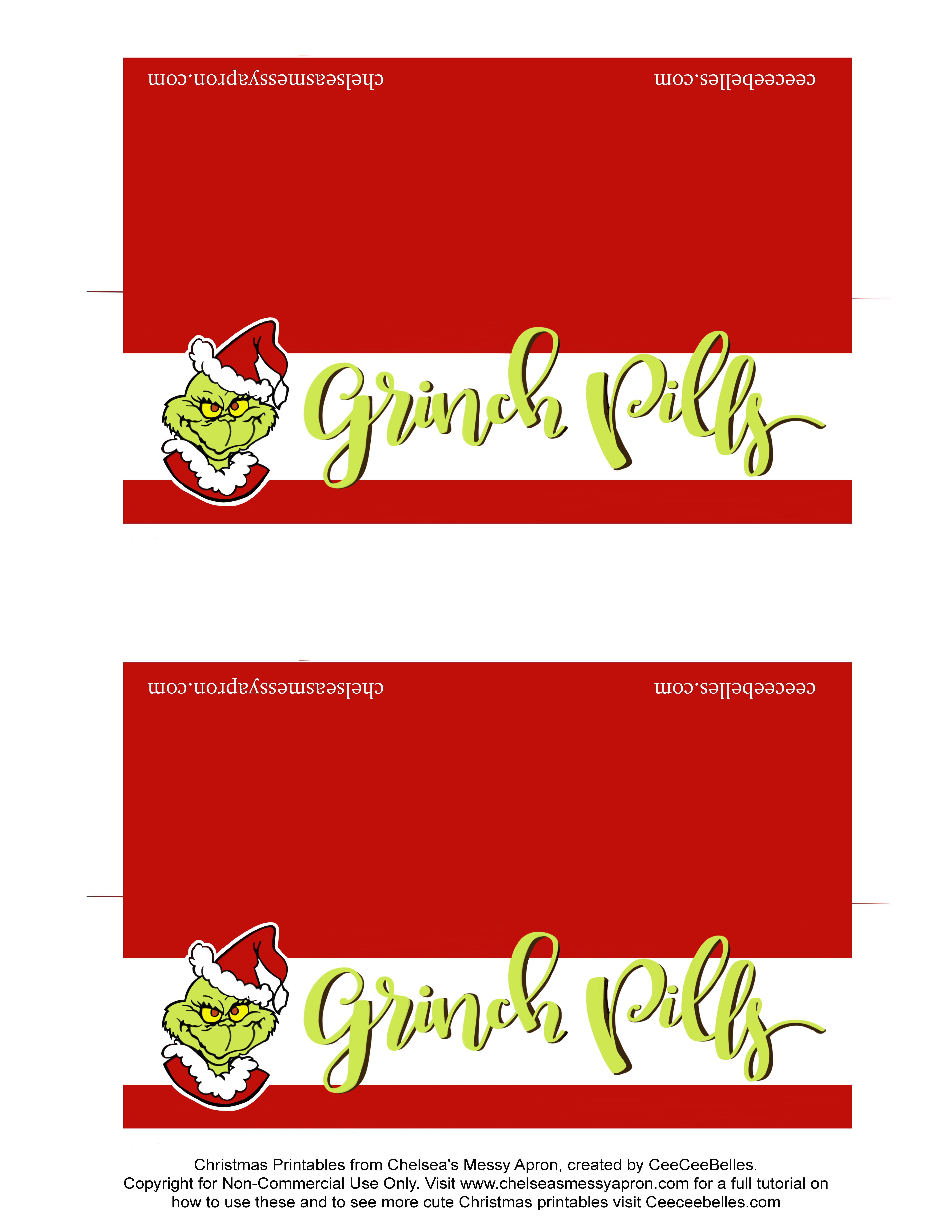 Pincornelia Stone On Christmas | Pinterest | Christmas, Grinch - Grinch Pills Free Printable