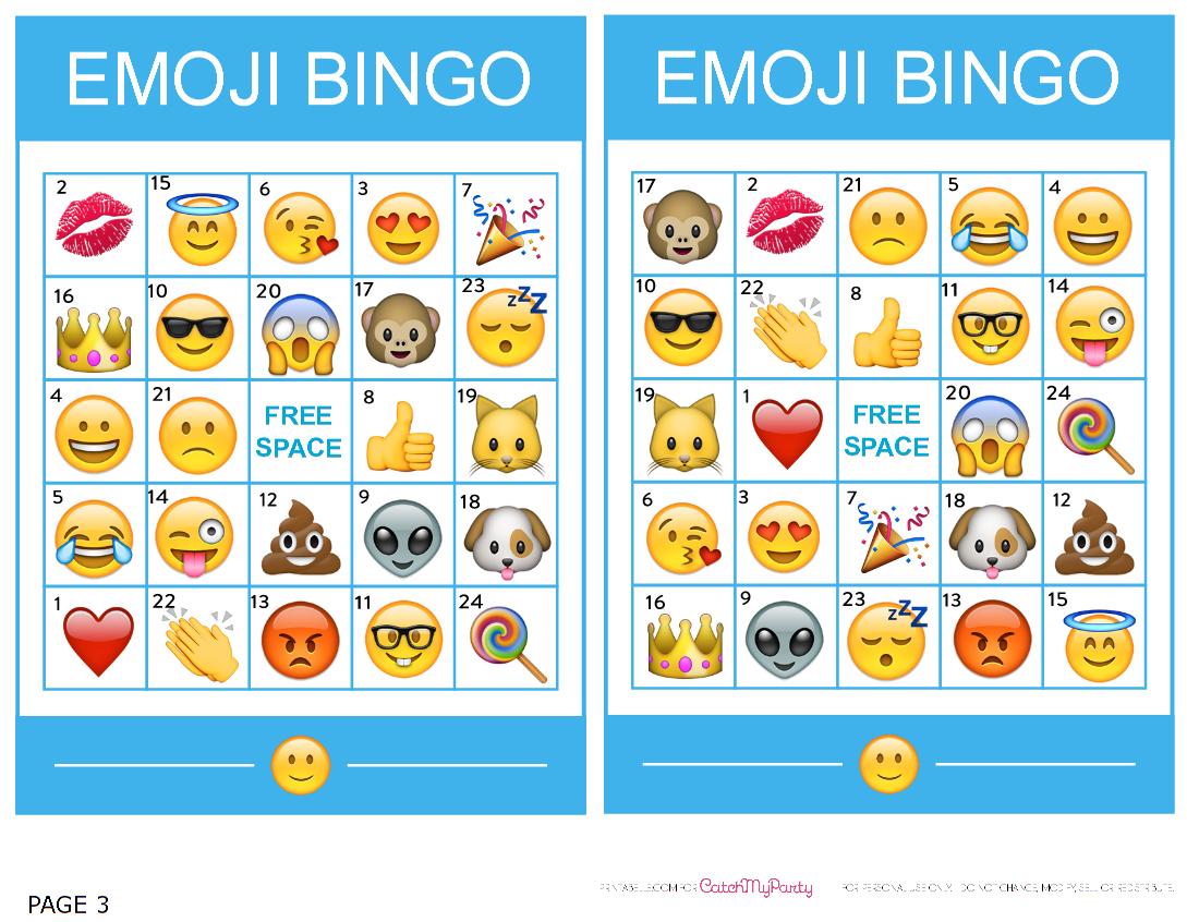 Pincrafty Annabelle On Emoji Printables | Emoji Bingo, Bingo, Emoji - Free Emoji Bingo Printable