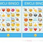 Pincrafty Annabelle On Emoji Printables | Emoji Bingo, Emoji   Free Emoji Bingo Printable