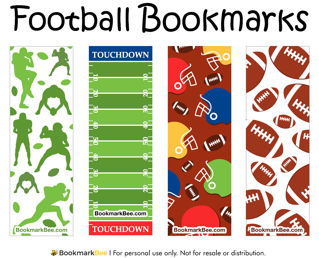 Pincrafty Annabelle On Football Printables | Bookmarks Kids - Free Printable Football Templates
