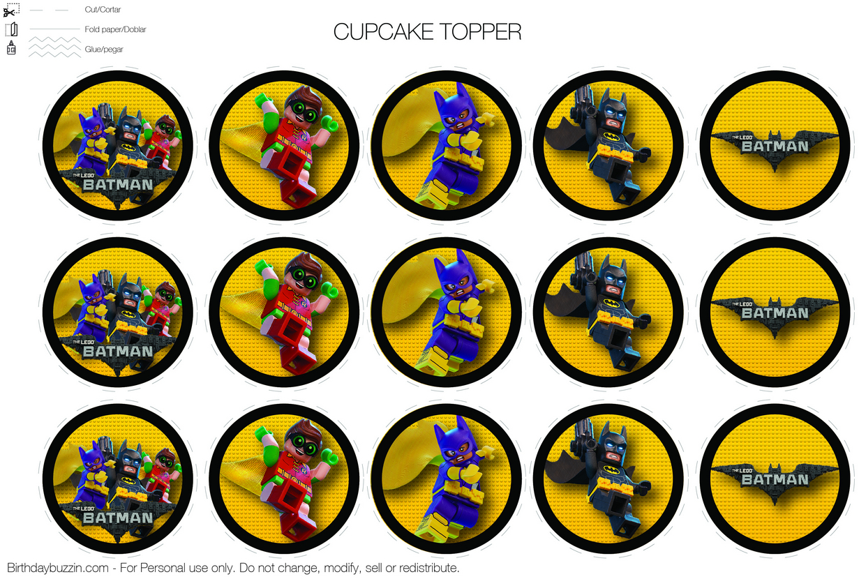 Pincrafty Annabelle On Lego Batman-Super Heros Printables In - Free Printable Lego Batman