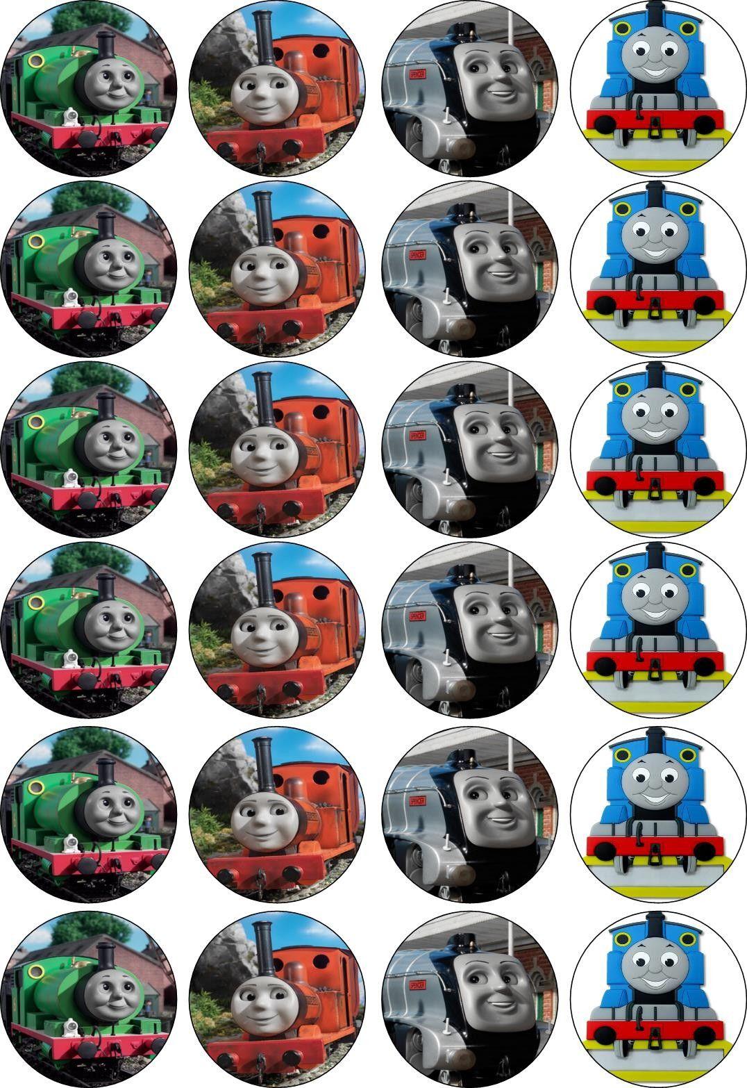 Pincrafty Annabelle On Thomas The Train Printables | Thomas The - Free Printable Train Cupcake Toppers