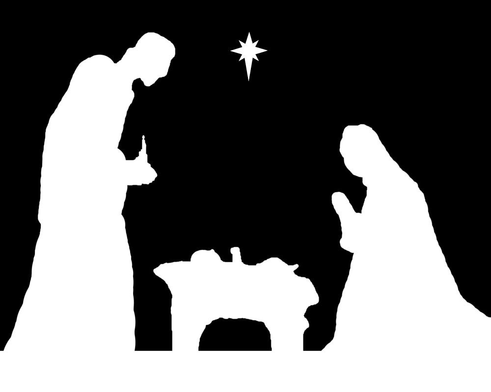 Pindebra Dempsey On Christmas Decorating | Nativity, Christmas - Free Printable Nativity Silhouette