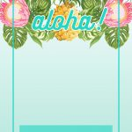 Pineapple Luau Perimeter   Free Printable Birthday Invitation   Free Printable Luau Baby Shower Invitations