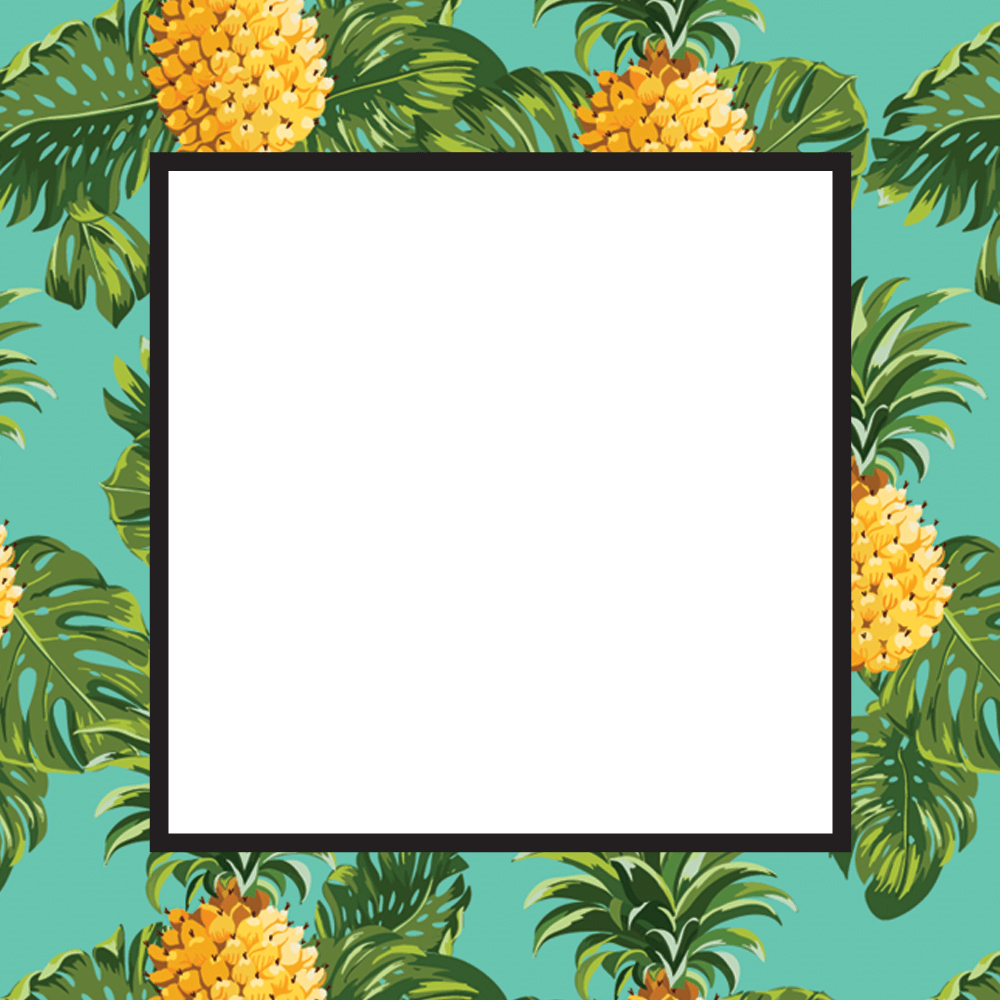 Pineapple Print - Free Printable Summer Party Invitation Template - Free Printable Pineapple Invitations
