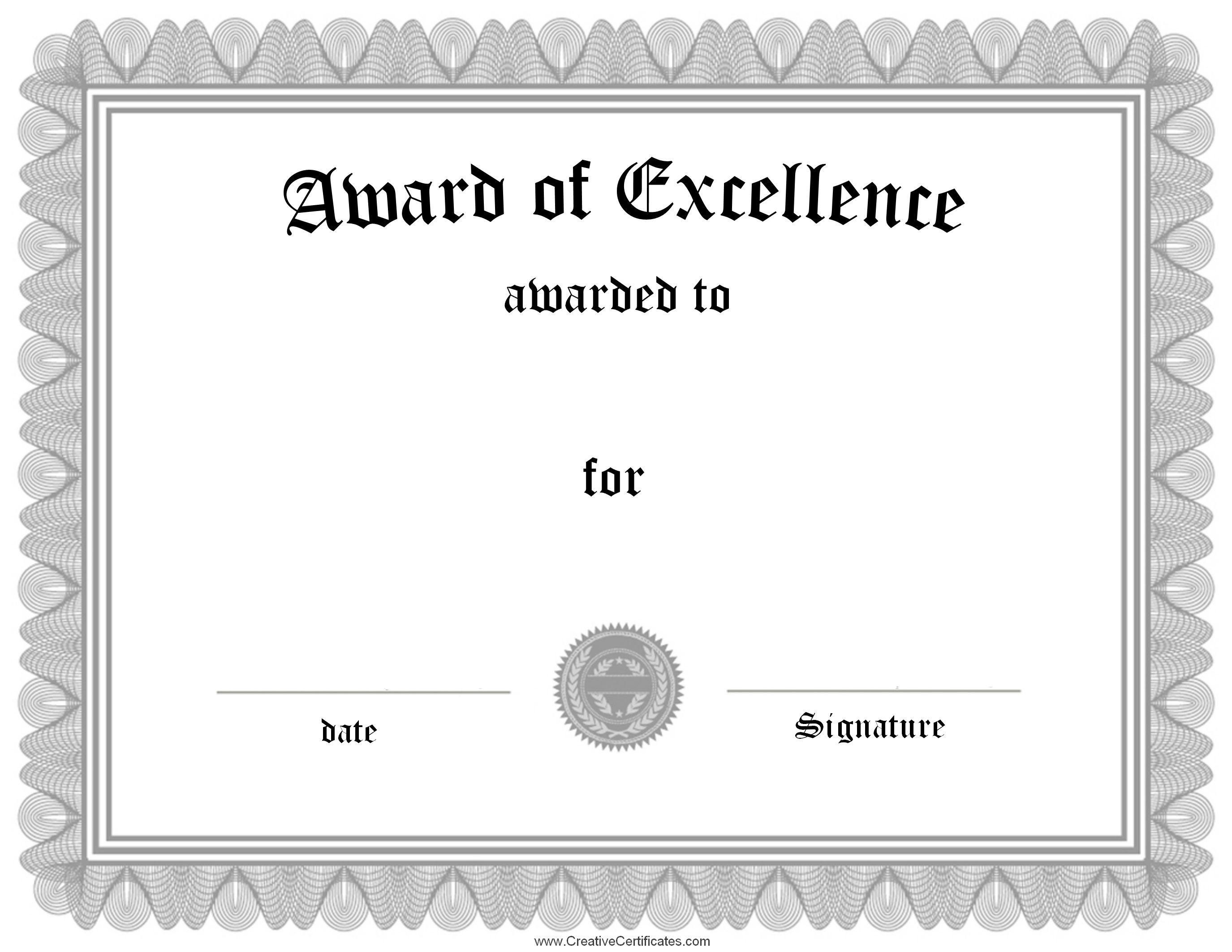 Pinhaider On Border | Certificate Of Achievement, Certificate Of - Free Customizable Printable Certificates Of Achievement
