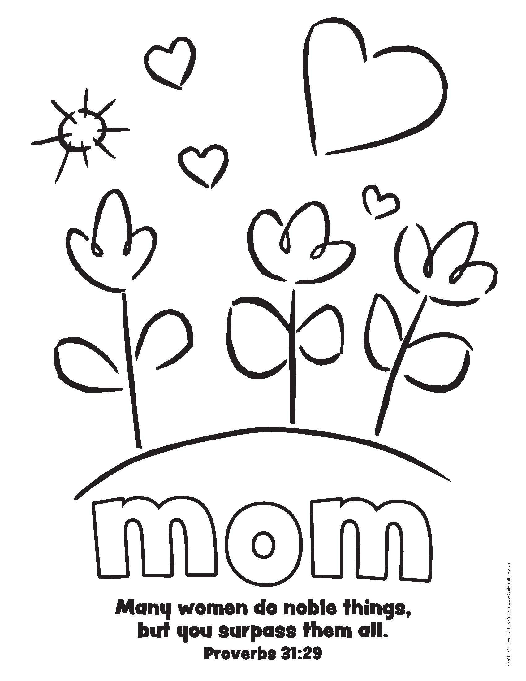 Pinjean Ballew On Children's Ministries | Mothers Day Coloring - Free Spanish Mothers Day Cards Printable