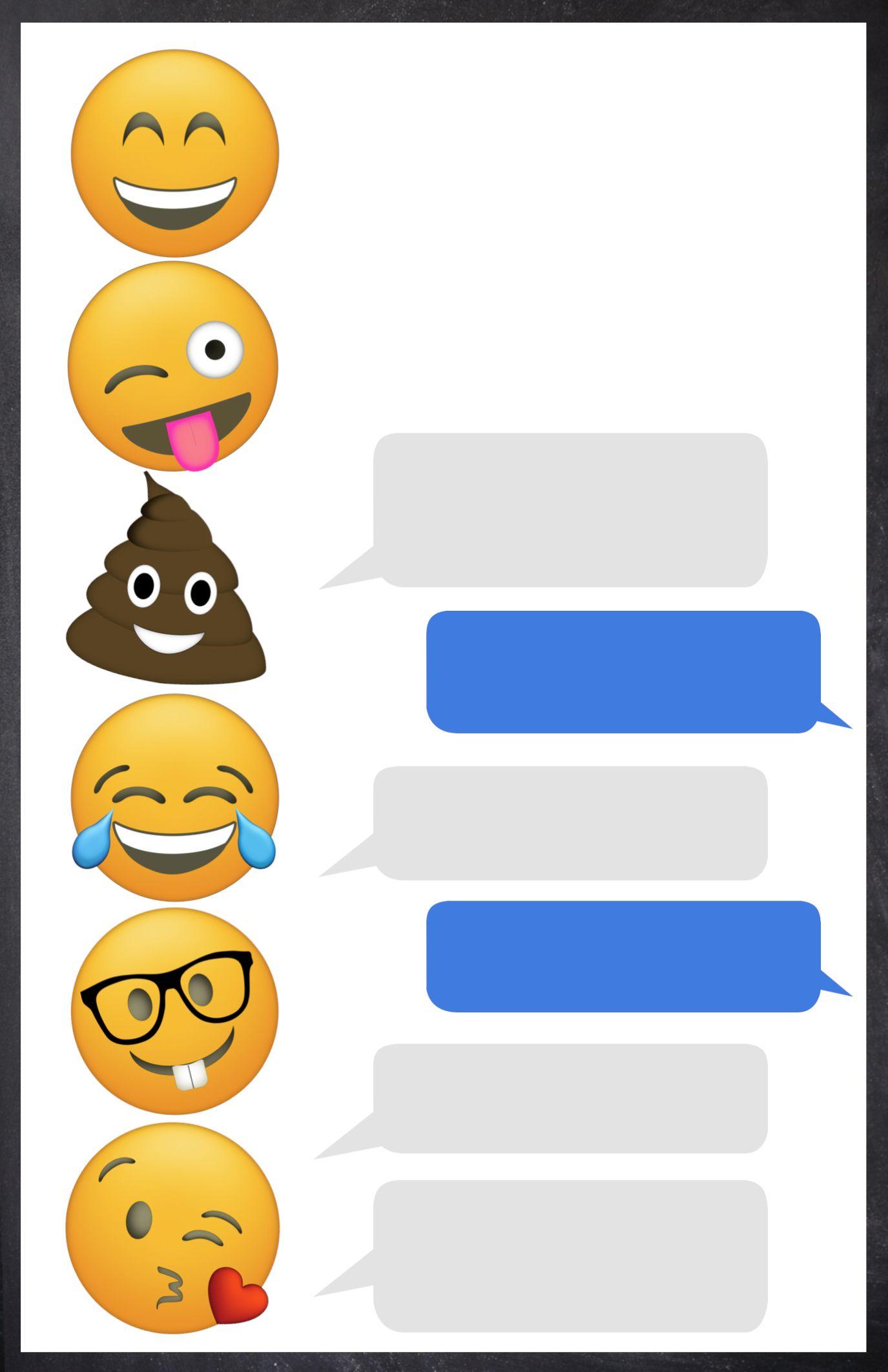 Pinjf And Company On Jorja's 8Th B-Day   Emoji Invitations - Emoji Invitations Printable Free