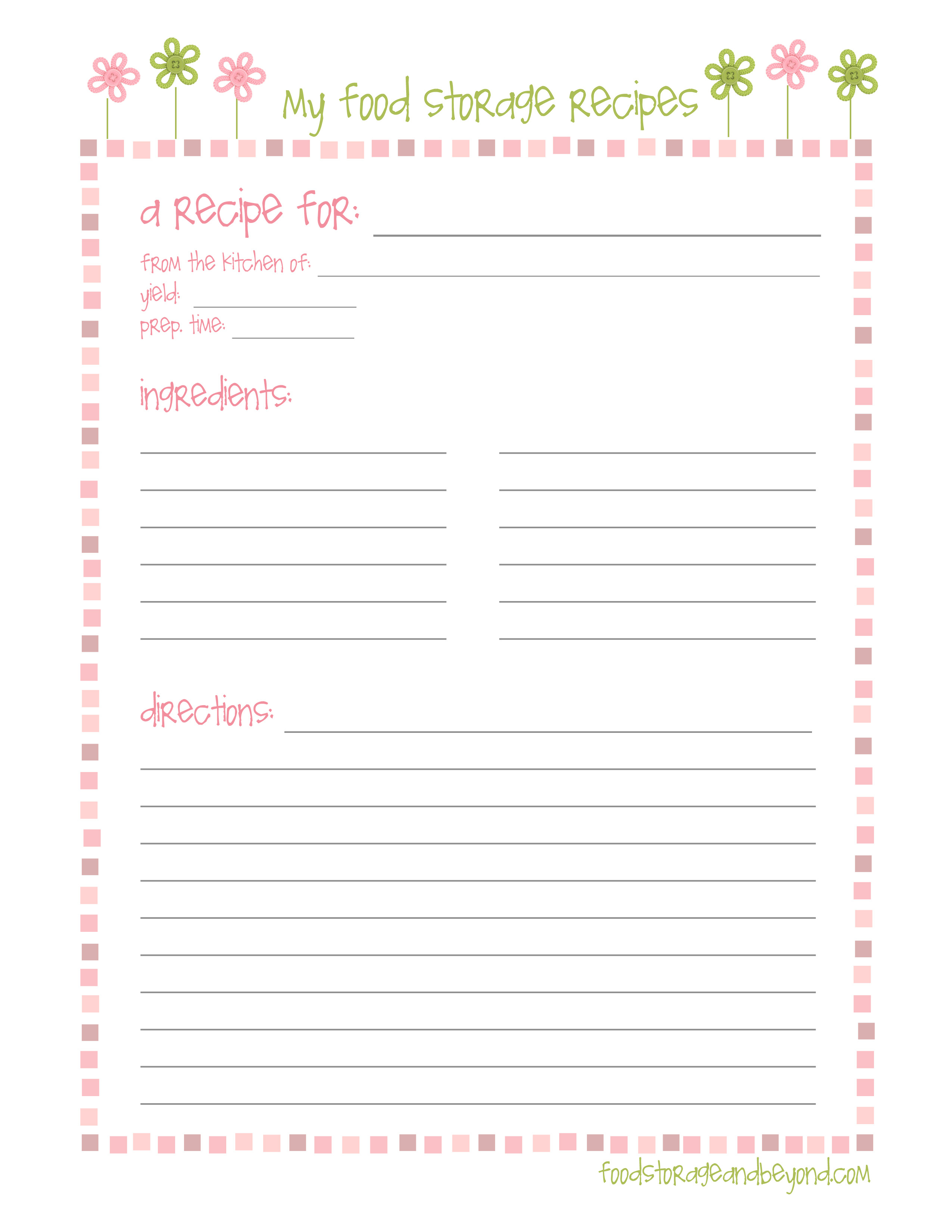 Pinjill Ortago On Happy Planning! | Printable Recipe Page - Free Printable Recipe Pages