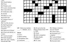 Free Printable Large Print Crossword Puzzles