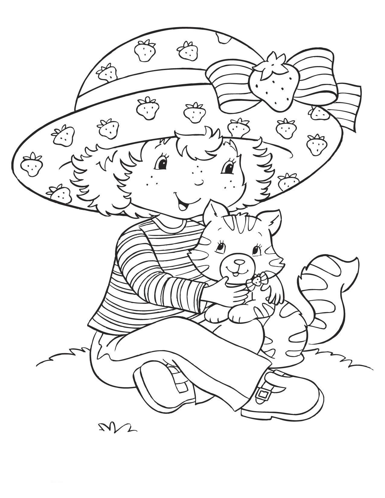 Pinjoe Hafzar On Coloring Pages :) | Pinterest | Strawberry - Strawberry Shortcake Coloring Pages Free Printable
