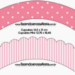 Pink And White Stripes And Polka Dots Free Party Printables And   Free Printable Minnie Mouse Cupcake Wrappers