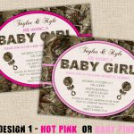 Pink Camo Baby Shower Supplies | Pink Hunting Camo Baby Shower   Free Printable Camo Baby Shower Invitations