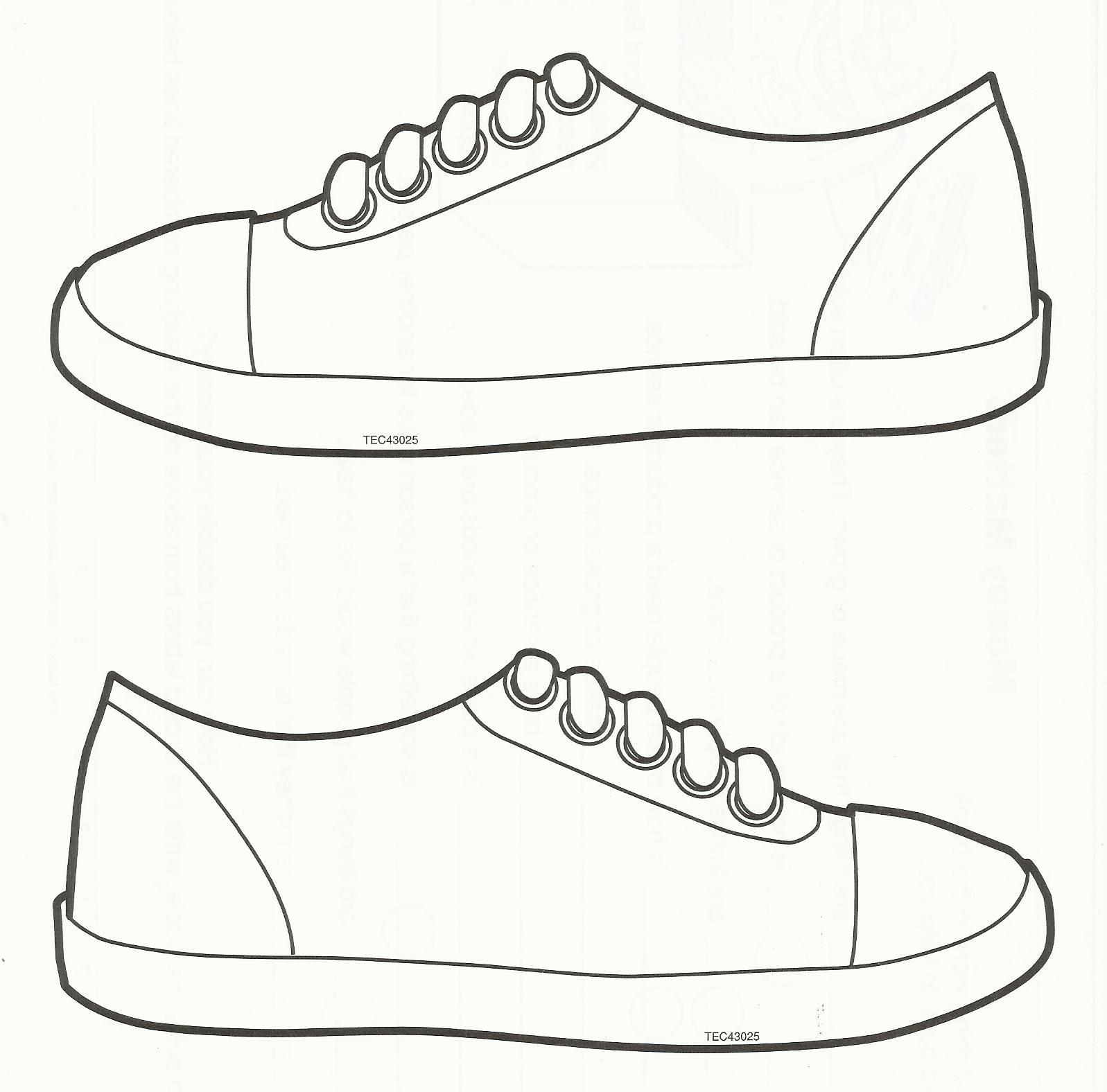 Pinkim Bryant On Sub Plans | Sneaker Art, Shoe Template, Art - Free Printable Shoe Print Template