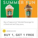 Pinned May 26Th: Second Frappuccino Free With Your Card At   Free Starbucks Coupon Printable