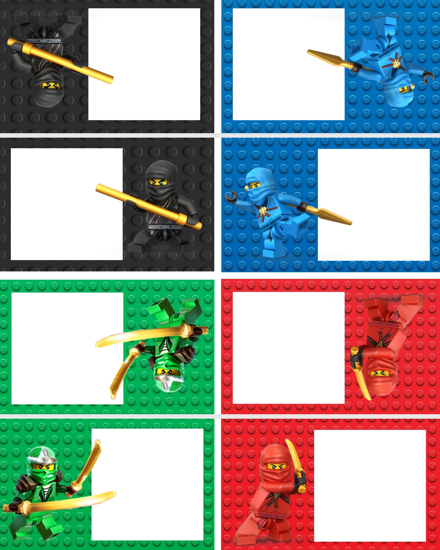 Pinnoilyn Morera Morera On Adhesivos - Lego Ninjago Party Invitations Printable Free