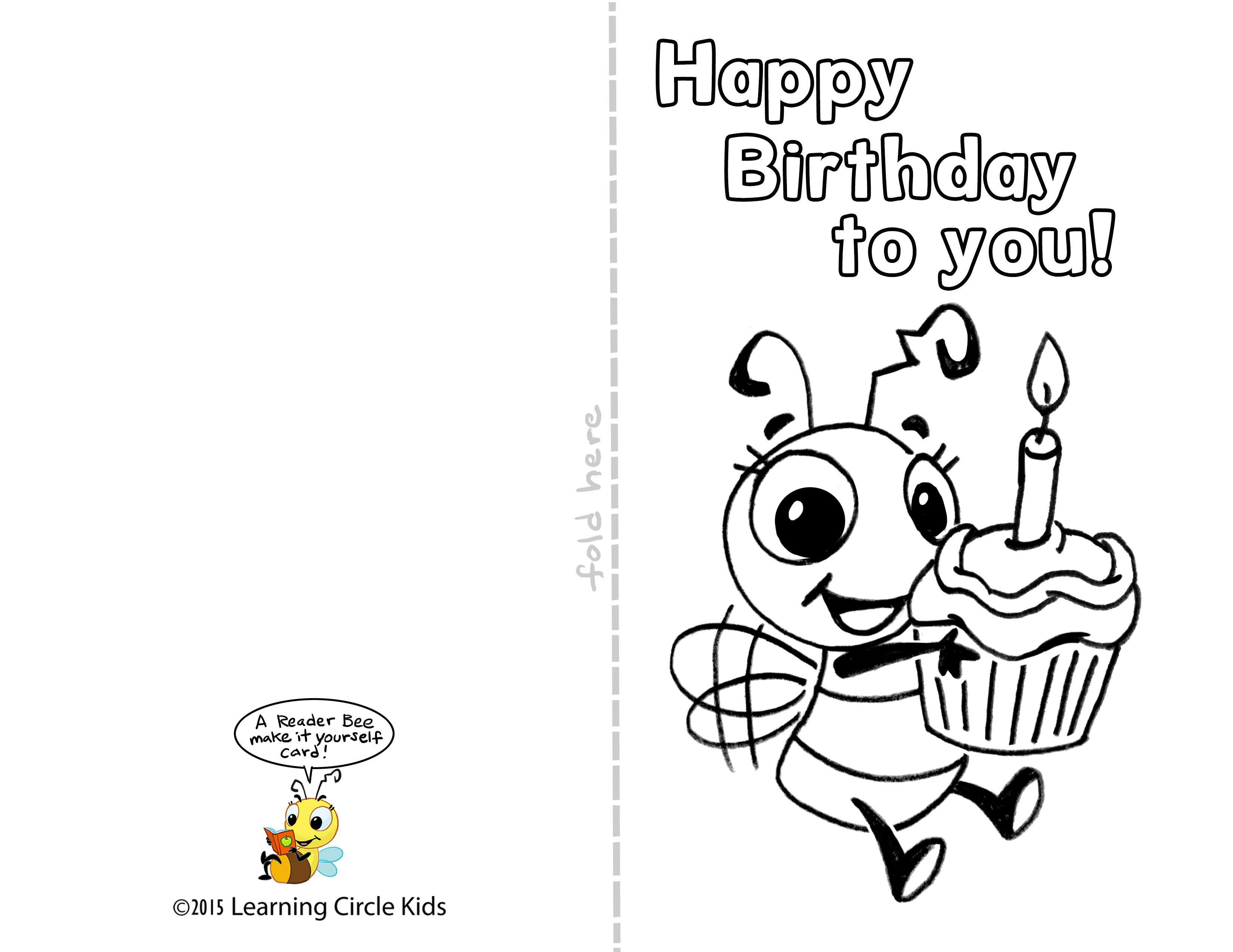 Pinreader Bee On Birthday Celebration - Bee Style | Pinterest - Free Printable Birthday Cards For Kids