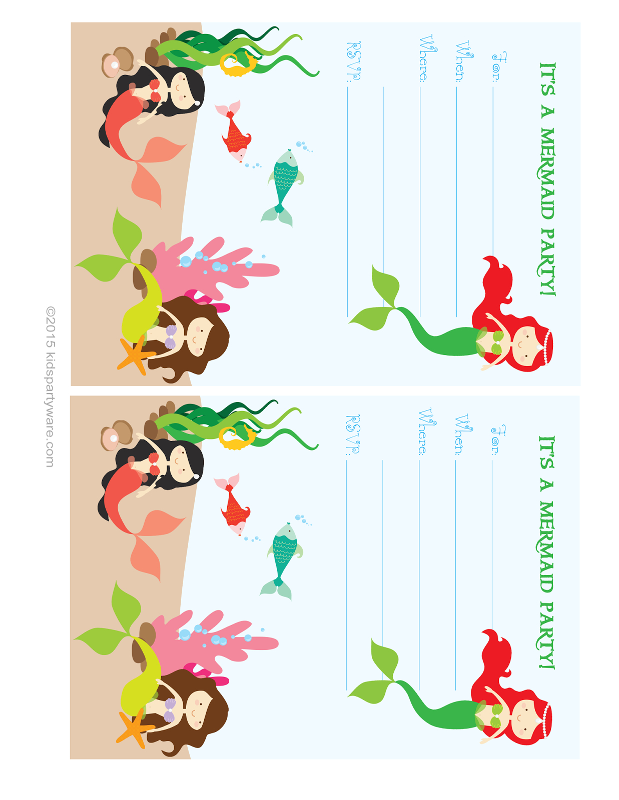 Pinsarah Daul On Birthday | Party, Mermaid Parties, Mermaid - Mermaid Birthday Invitations Free Printable