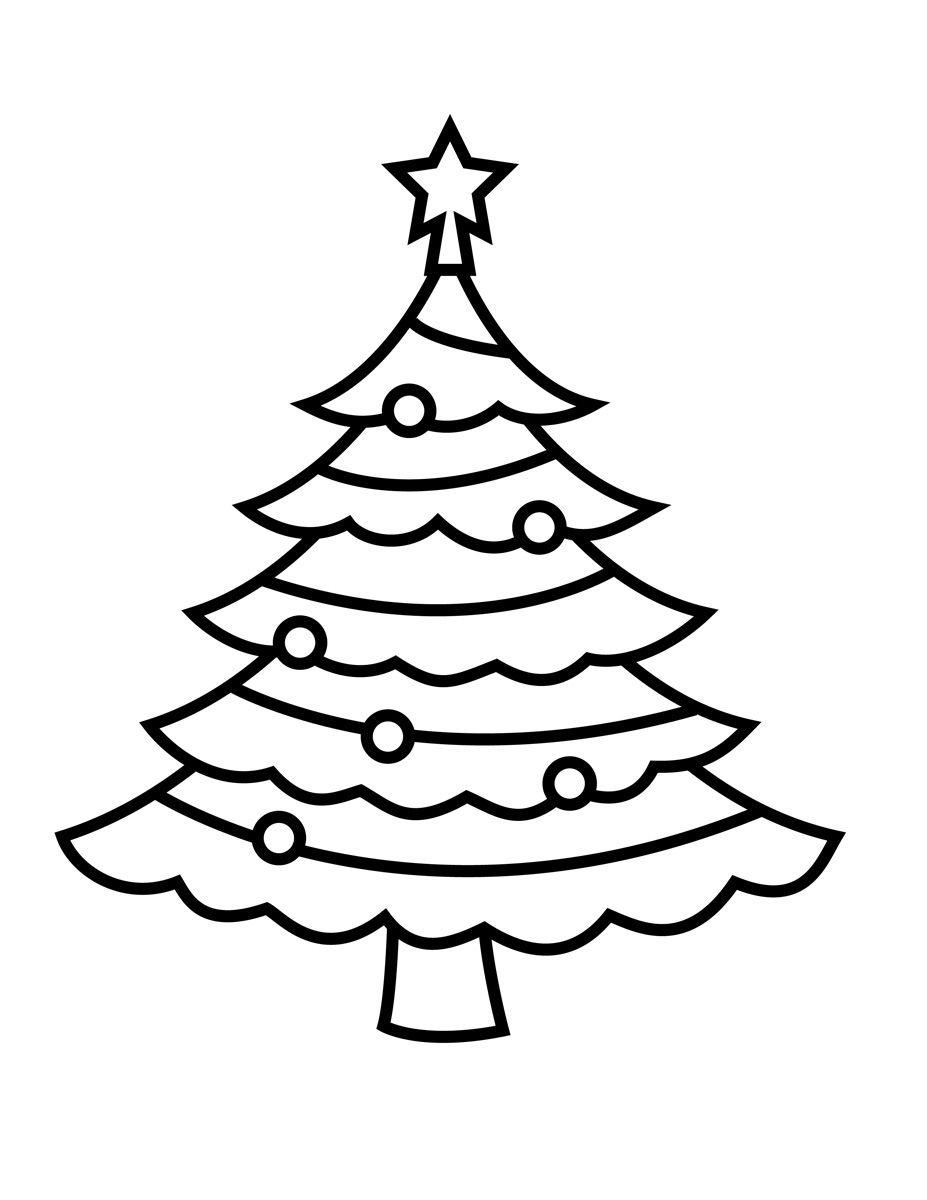 Pinshreya Thakur On Free Coloring Pages   Christmas Tree - Free Printable Christmas Tree Template