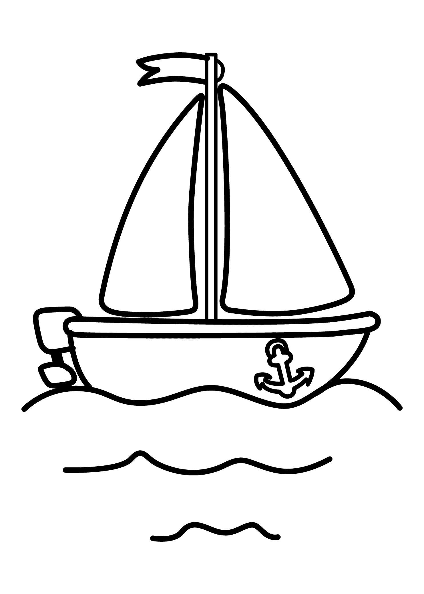 Pinshreya Thakur On Free Coloring Pages   Pinterest   Coloring - Free Printable Boat Pictures