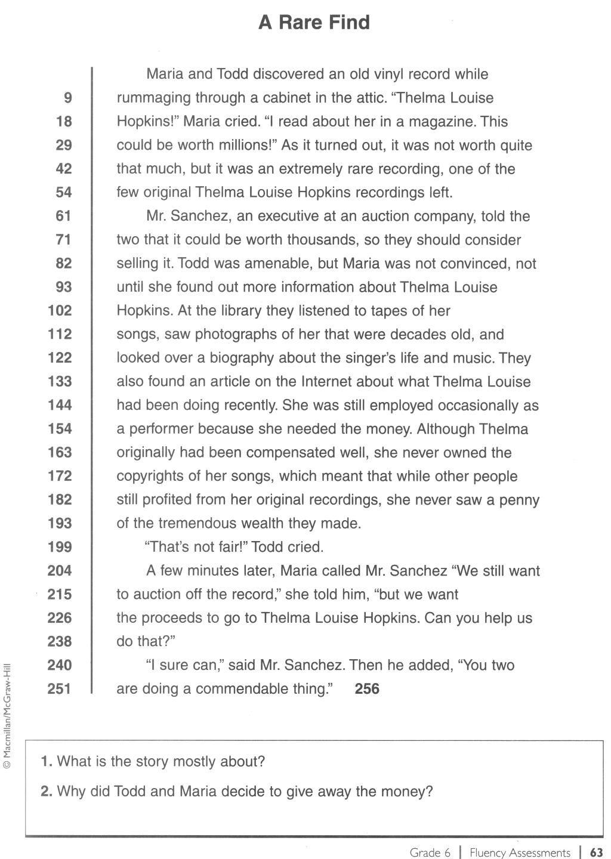Pinvalerie Errickson On Informational Text | Reading Fluency - Free Printable Fluency Passages 3Rd Grade