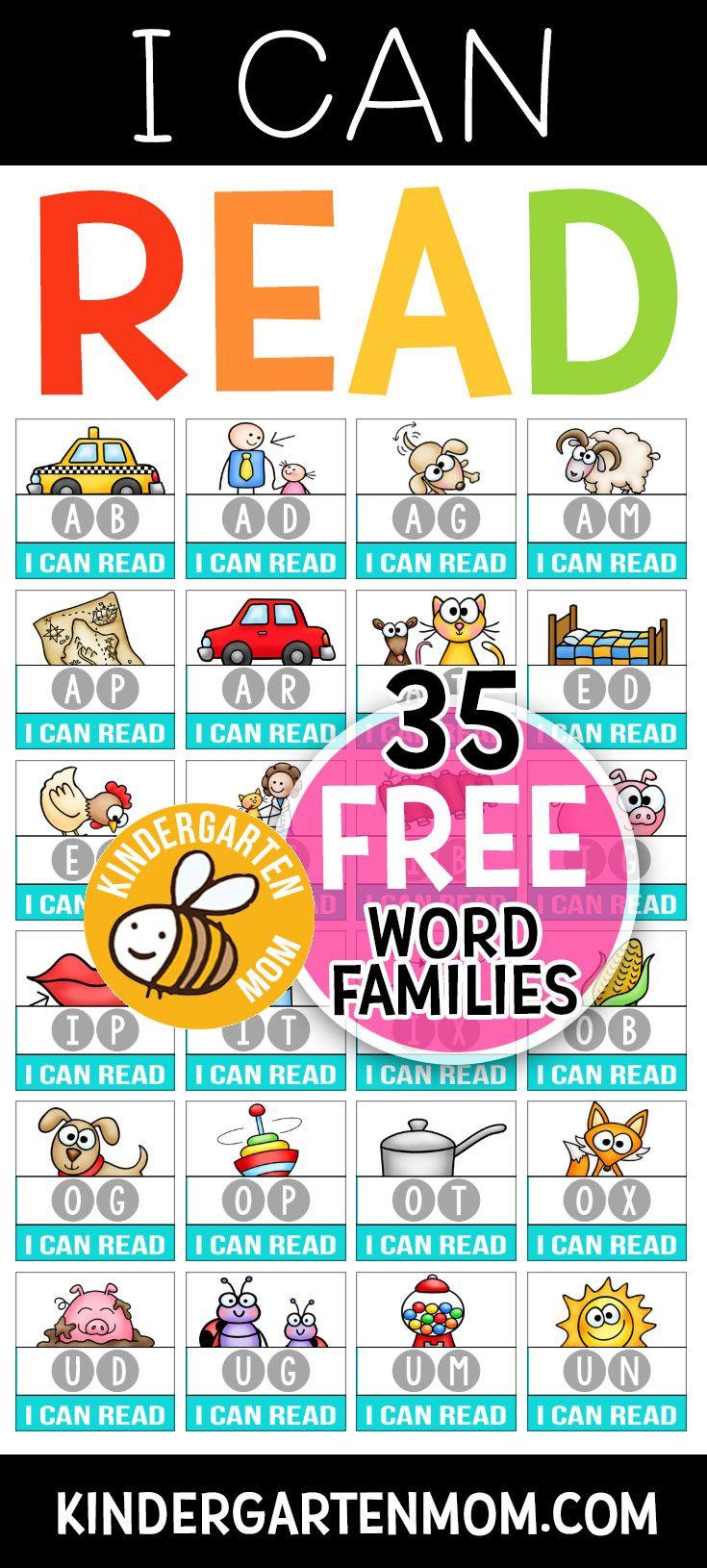 Pinvalerie Mcclintick On Homeschool Ninjas | Kindergarten - Free Printable Word Family Mini Books