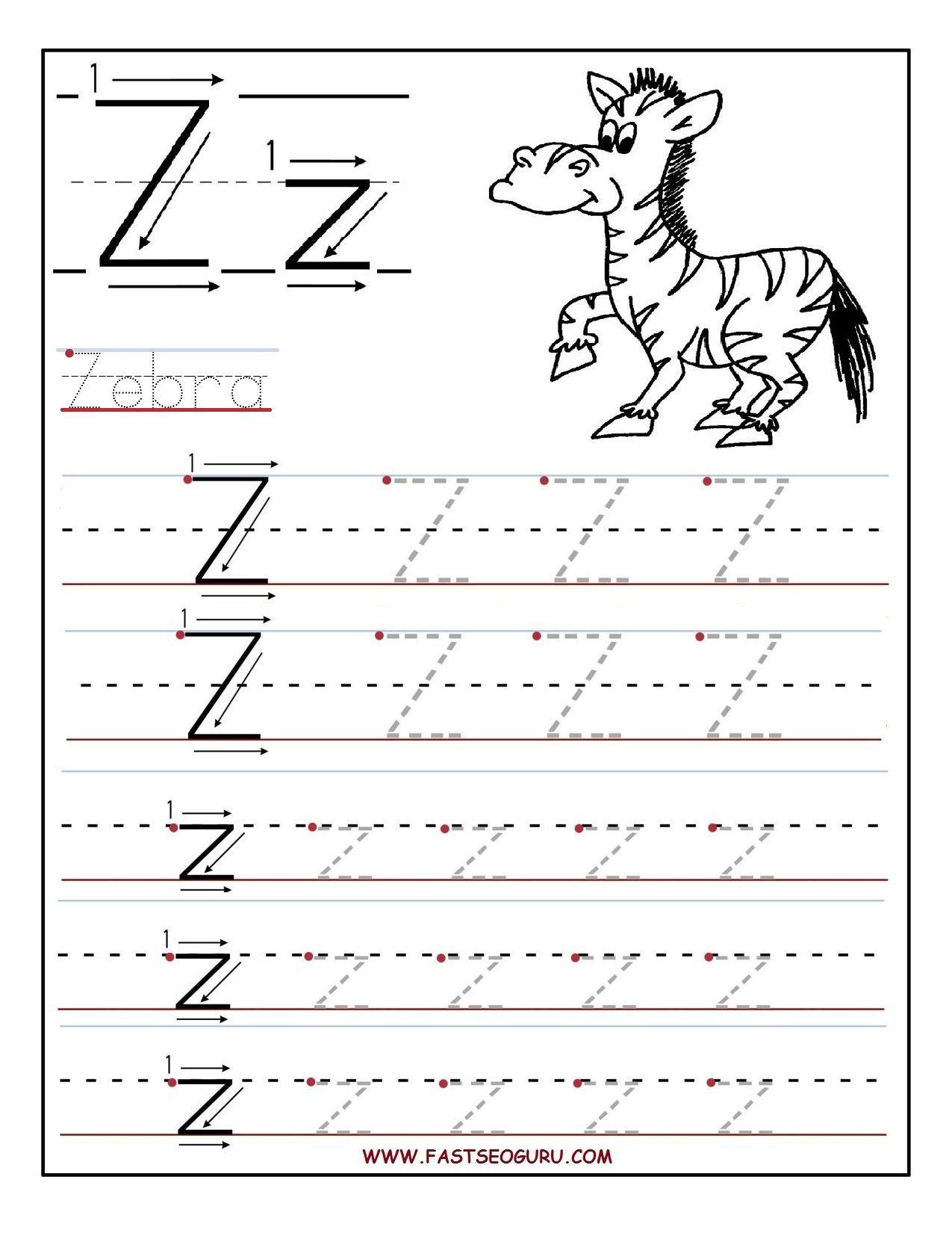 Pinvilfran Gason On Decor | Alphabet Worksheets, Letter Tracing - Letter Z Worksheets Free Printable