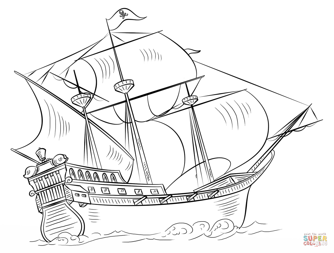 Pirate Ship Coloring Page   Free Printable Coloring Pages - Free Printable Boat Pictures